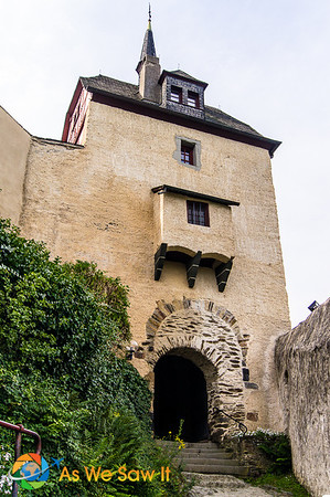 Marksburg Castle's arched entry gate