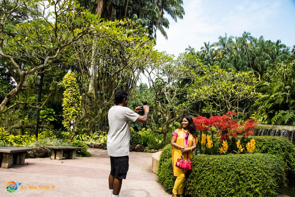 Couple in Singapore Botanic Gardens