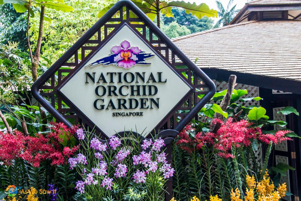 National Orchid Garden sign at Singapore Botanic Gardens