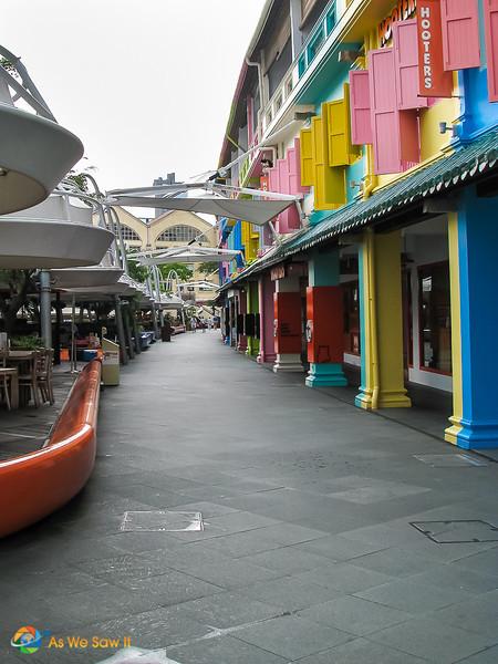 Clarke Quay walkway.