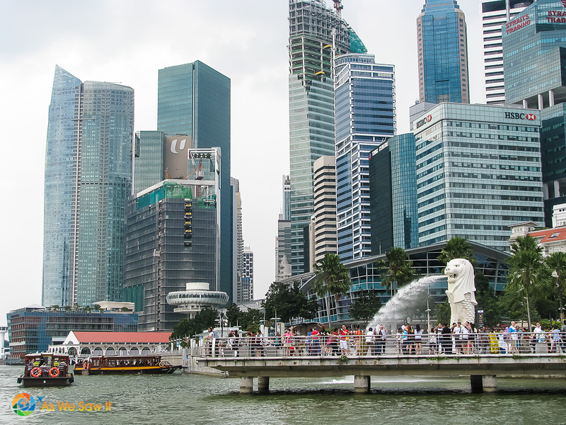 Singapore's Merlion and Merlion Park