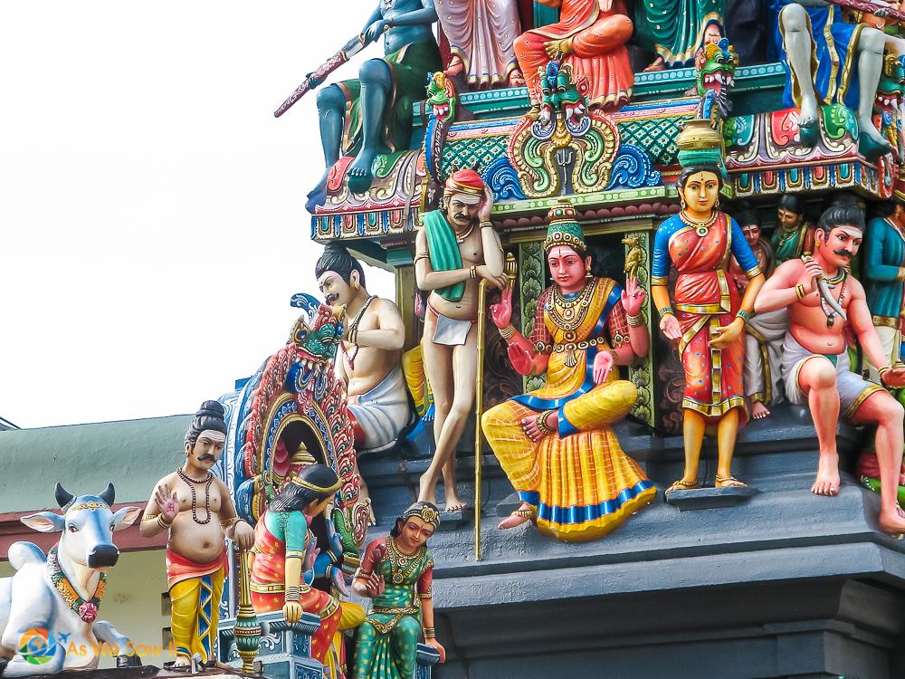 detail of Krishna statue