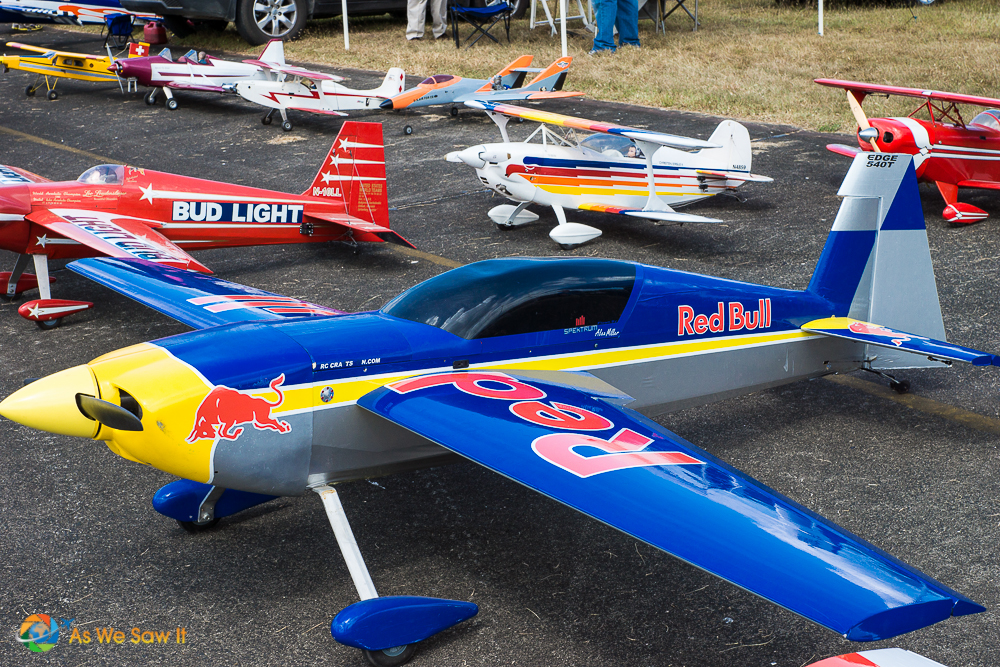 Red Bull model plane.