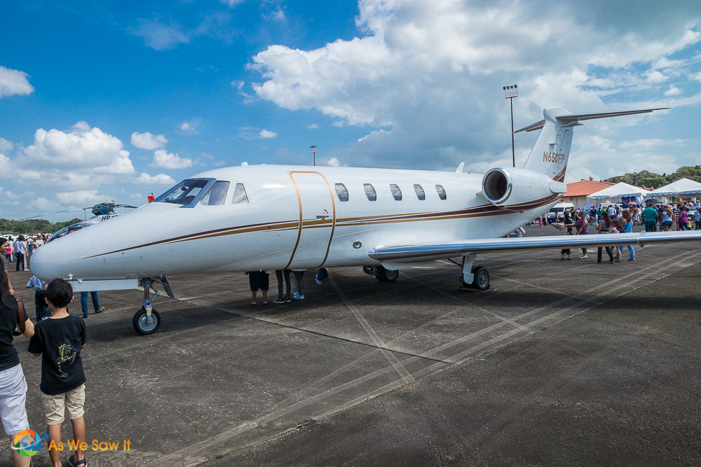 Private jet at the Panamanian Airshow