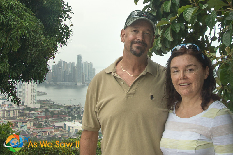 Dan and Linda on Ancon Hill, overlooking Panama City
