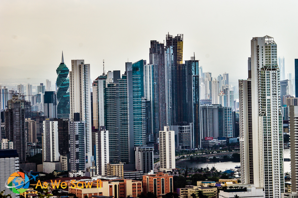 Tale of 3 cities: Modern day Panama City and its financial district.