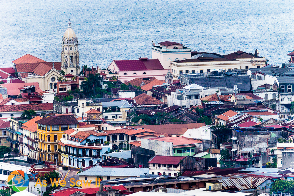Tale of 3 cities: Casco Viejo settled in a more defensible position on a peninsula.