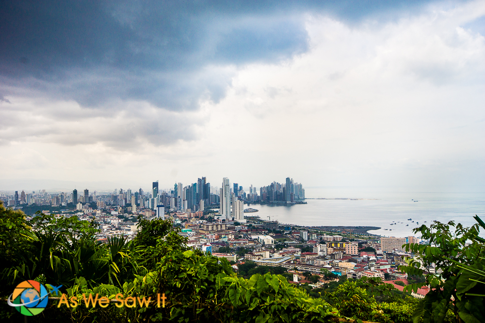 View of Panama City from the top of Ancon Hill/