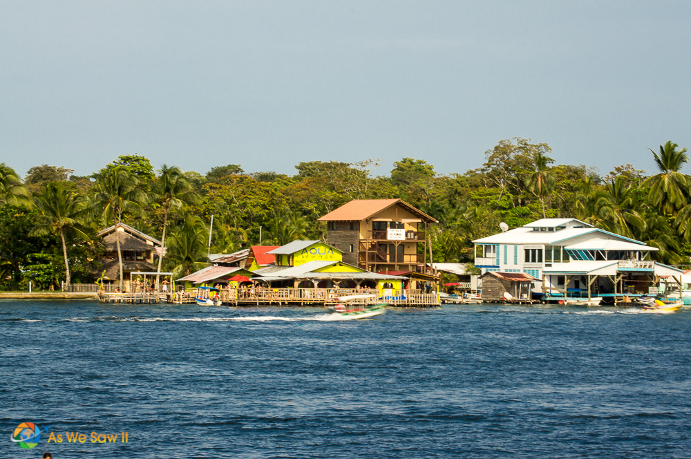 View across to Isla Carenero from Bocas Town Hotel