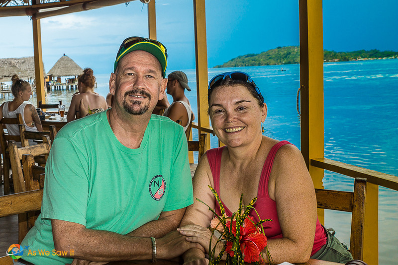 Linda and Dan at Bibi's on the Beach.