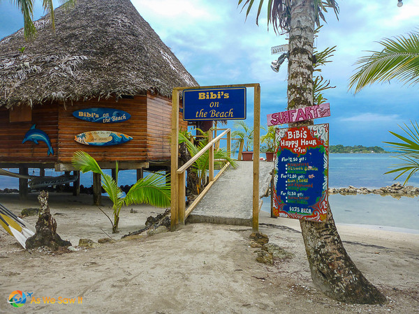 Restaurant on a Bocas island