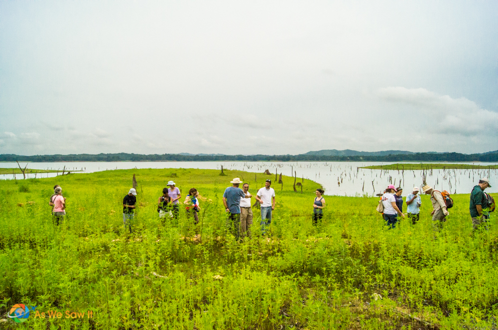Looking for Spanish artifacts on an island in Lake Gatun