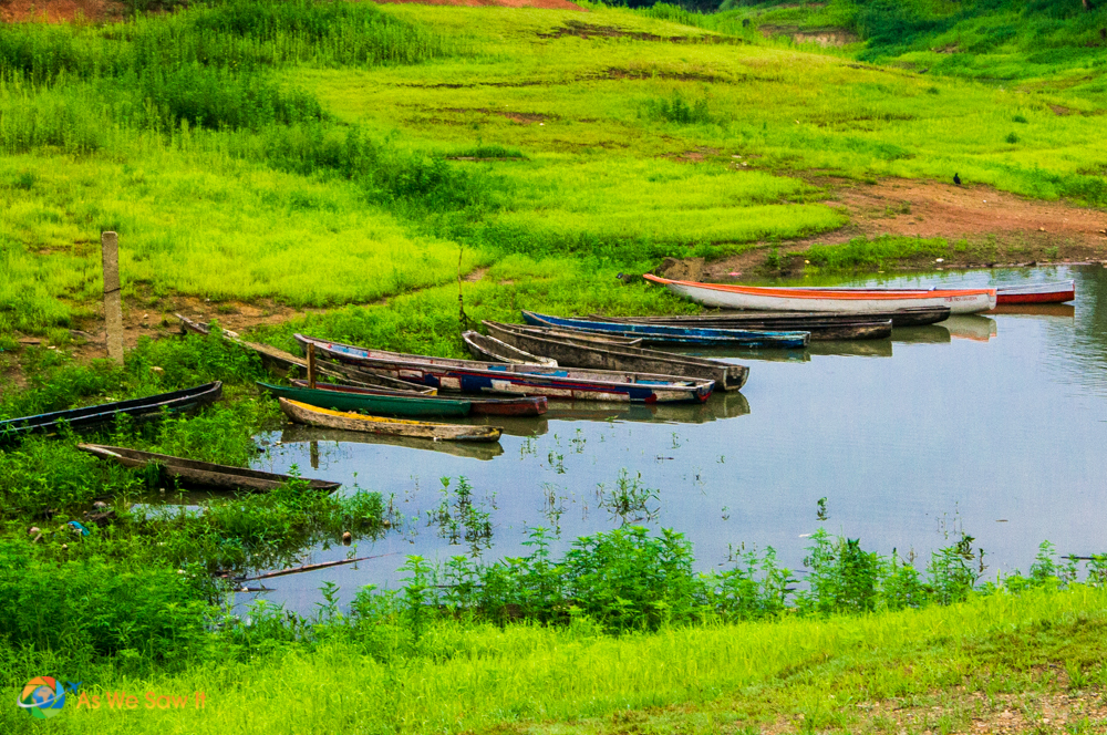 Wooden boats on Lake Gatun