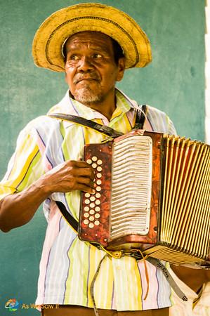 Panamanian accordion player