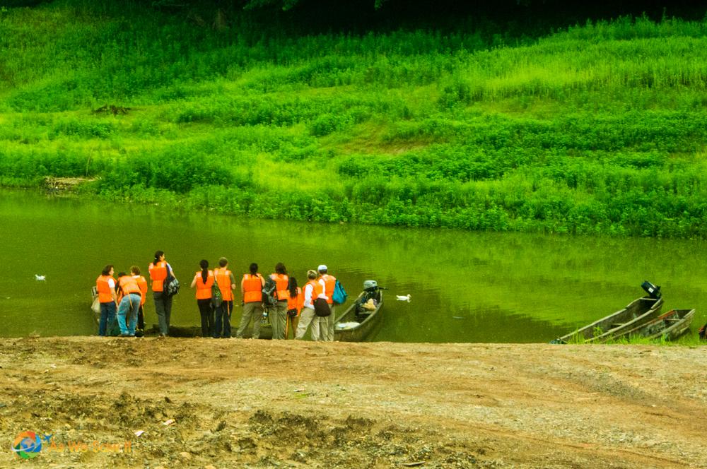 Preparing to boat on Lake Gatun