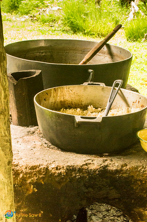 The rustic kitchen of a Panamanian campesino village