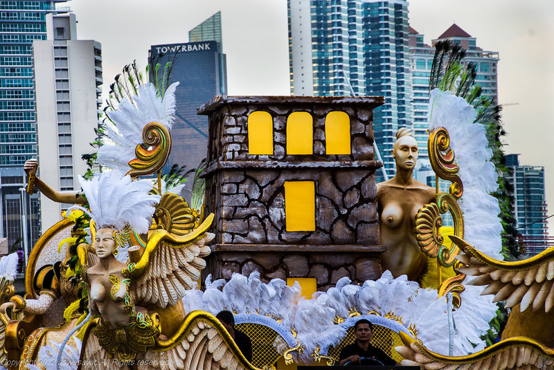 Carnaval float in Panama City 2013