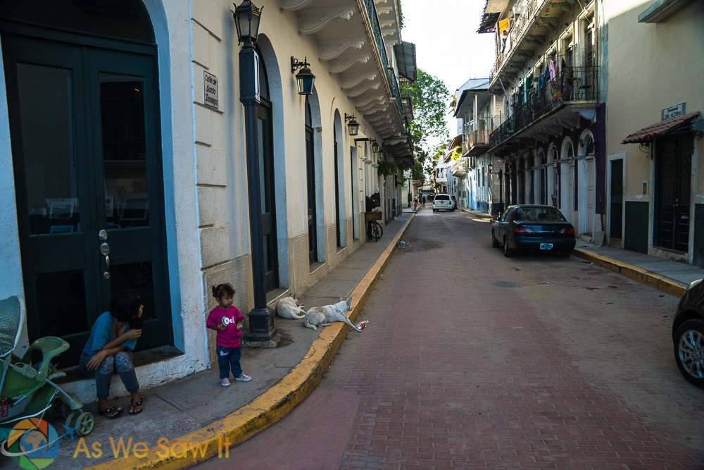 Streets of Casco Viejo are easily walked.