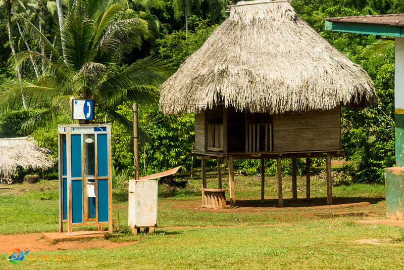 Above ground huts of the Embera