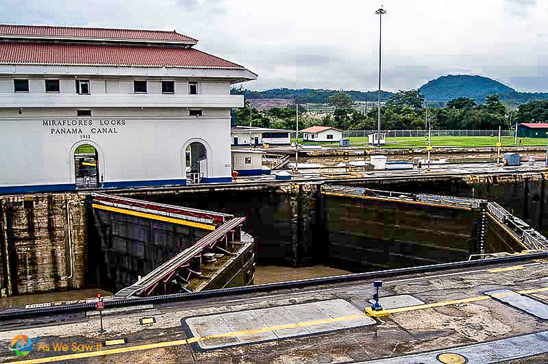Control building at Miraflores Locks at the Panama Canal