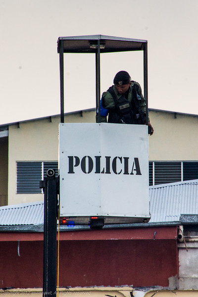 Panama Police watching for potential problems from overhead