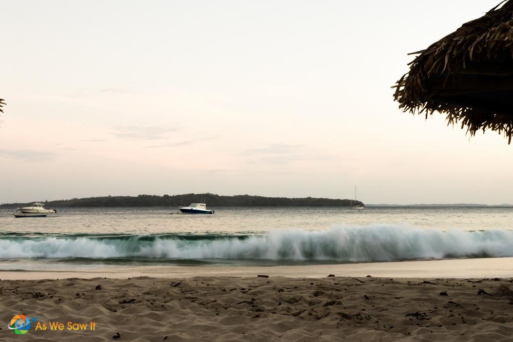 Surfs up on the beach.