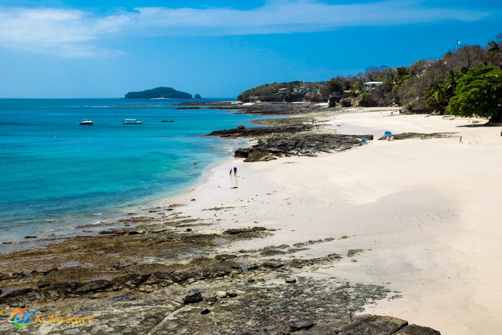 Another of the wonderful beaches available on Contadora.