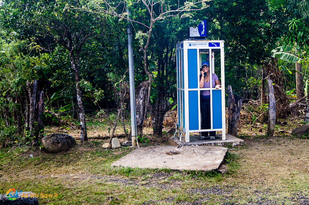 Yes, A phone working booth in the middle of nowhere.
