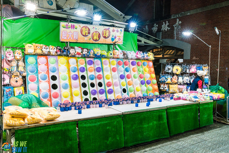 Night market game booth