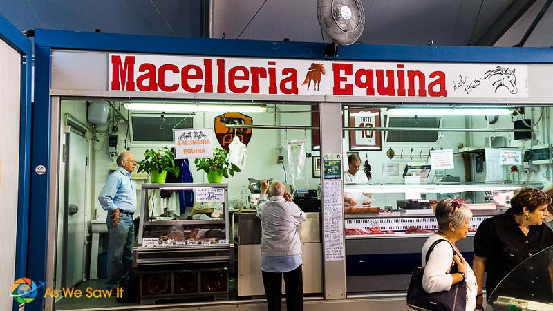 stall selling horsemeat