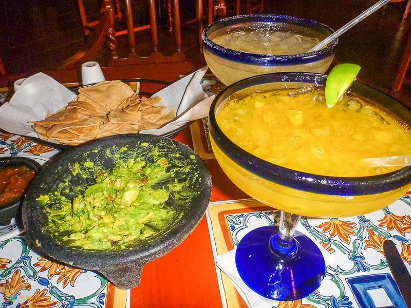 Margaritas and Guacamole in Cancun, Mexico