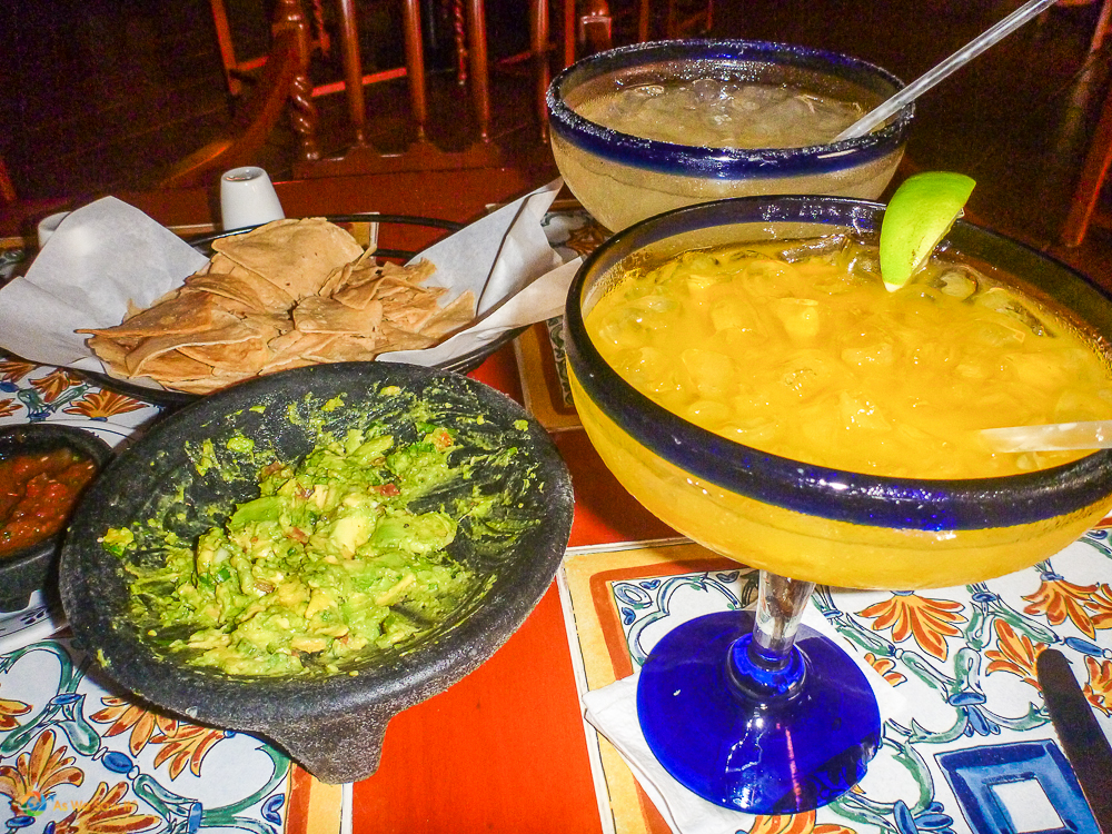 Margaritas and Guacamole in Cancun, Mexico