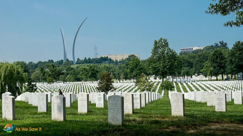 Rows of gravestones in Arlington National Cemetery