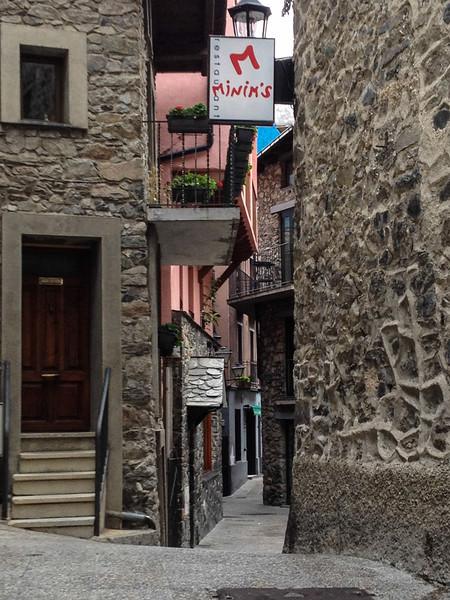 Medieval passageway in Andorra la Vella.