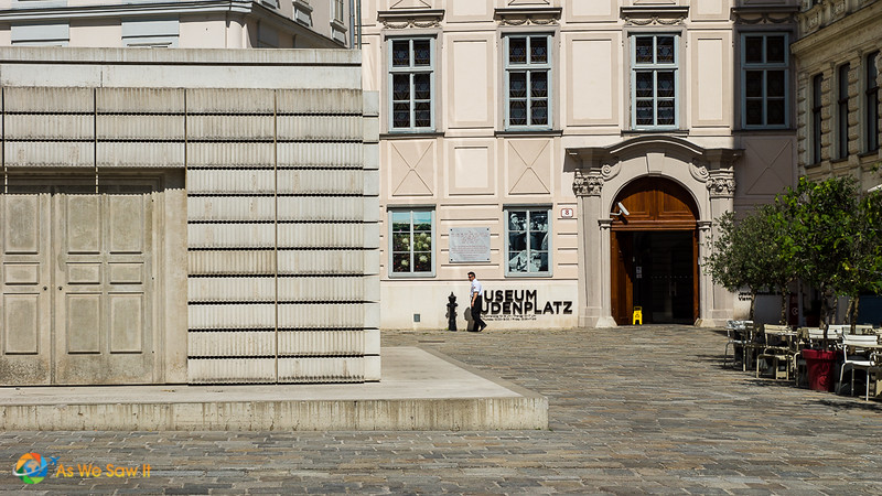 Judenplatz with the Holocaust Memorial and Museum