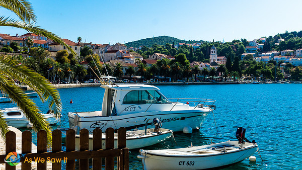 Boats in Cavtat, Croatia