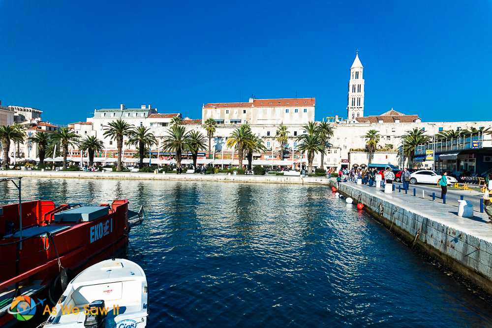 Riva, the waterfront of Split, Croatia