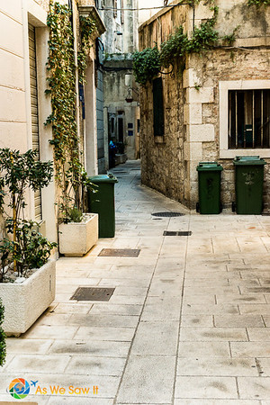 This narrow street was once part of Diocletian's palace.