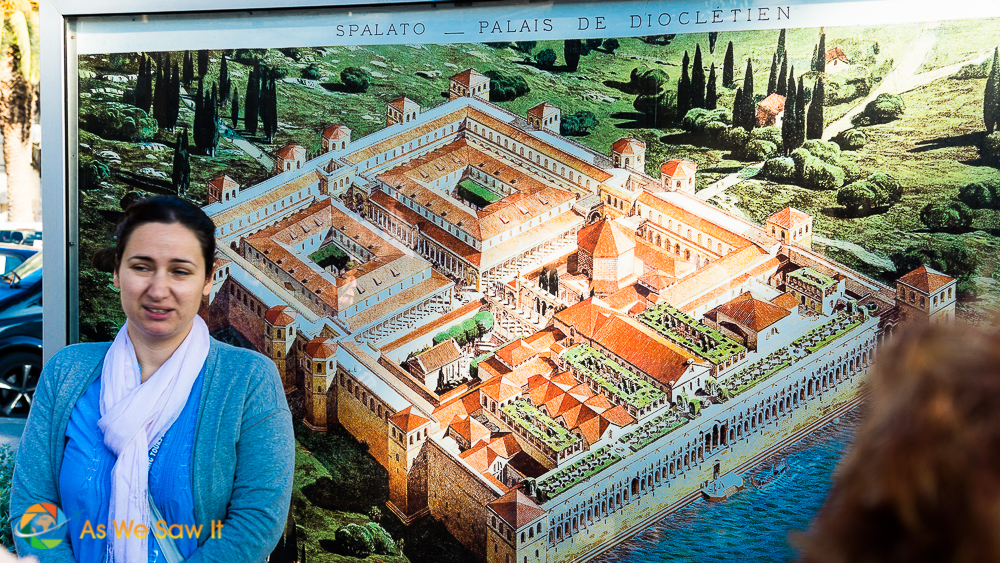 A map of what Diocletian's palace originally looked like