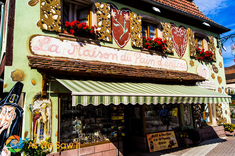 A traditional gingerbread bakery on the Alsace tour