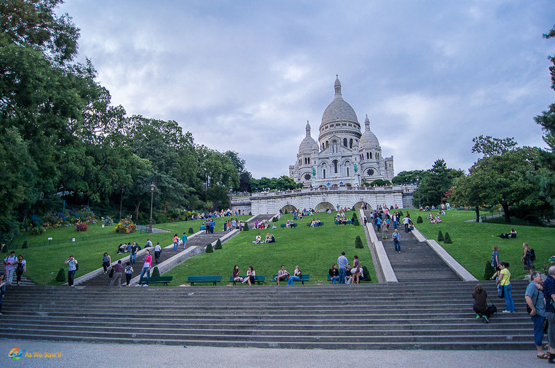 Sacre Coeur as seen from the base of the hill