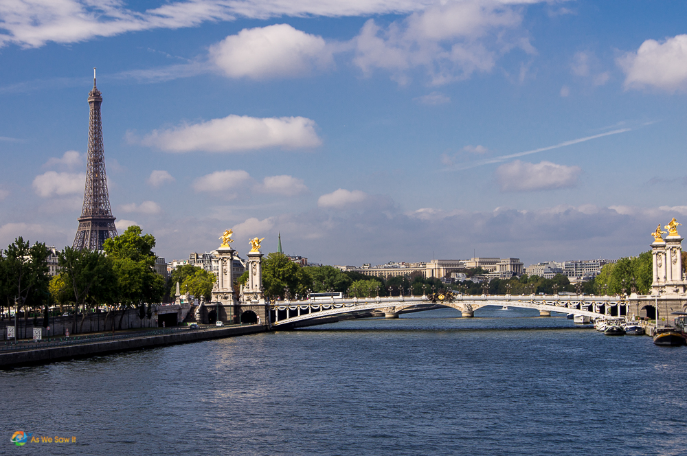 Seine river and the Eiffel Tower