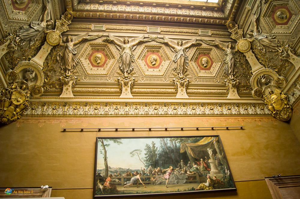 Inside the Lourve, Paris