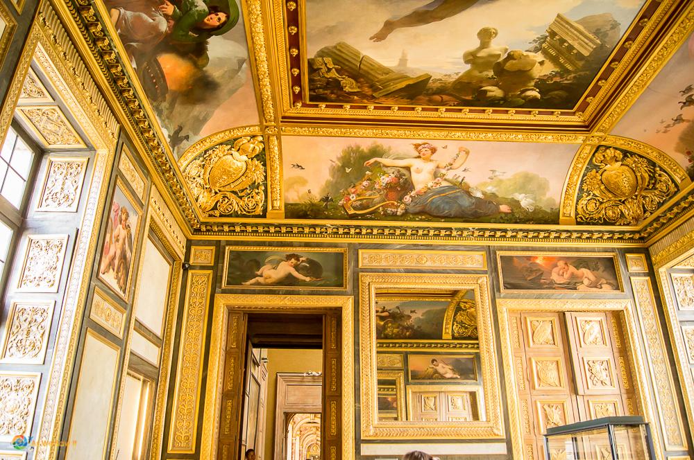 Fantastic details inside the Louvre, Paris.