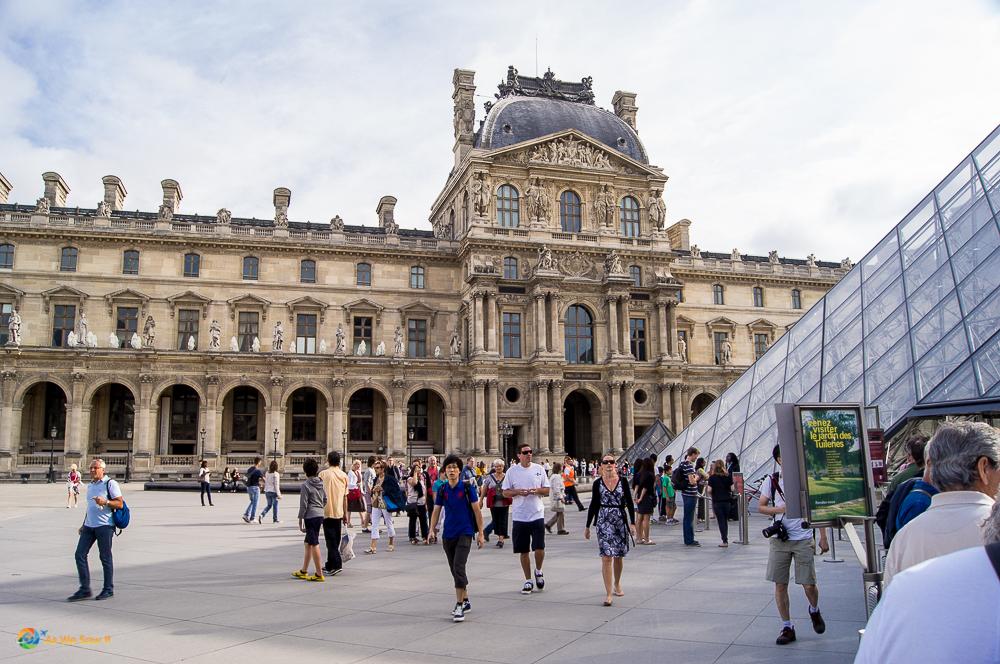 Outside the Lourve, Paris