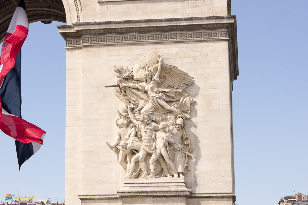 Details on the Arc de Triomphe, Paris