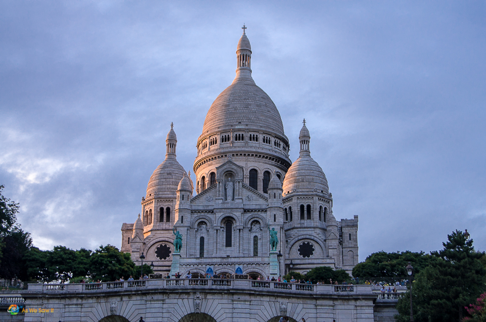 Sacre Coeur at sunset.