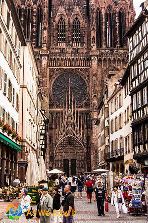 Front entry of the Cathedral of Notre Dame in Strasbourg, France