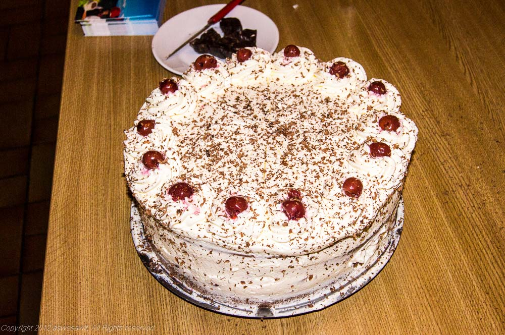 Famous original Black Forest cake.