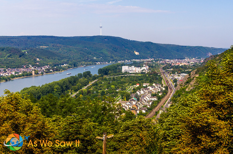 View of Rhine from the castle balcony